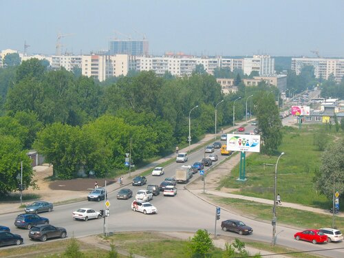 Академгородок. Улица Российская.