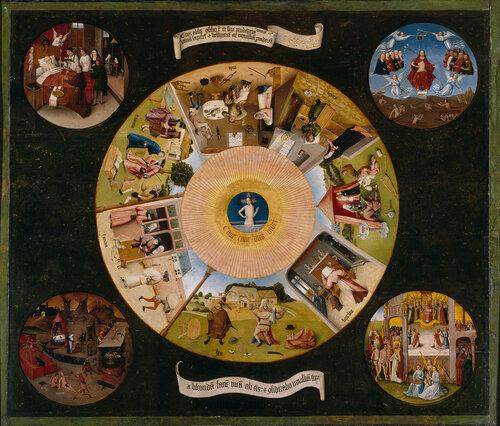 Семь смертных грехов на картине Иеронима Босха