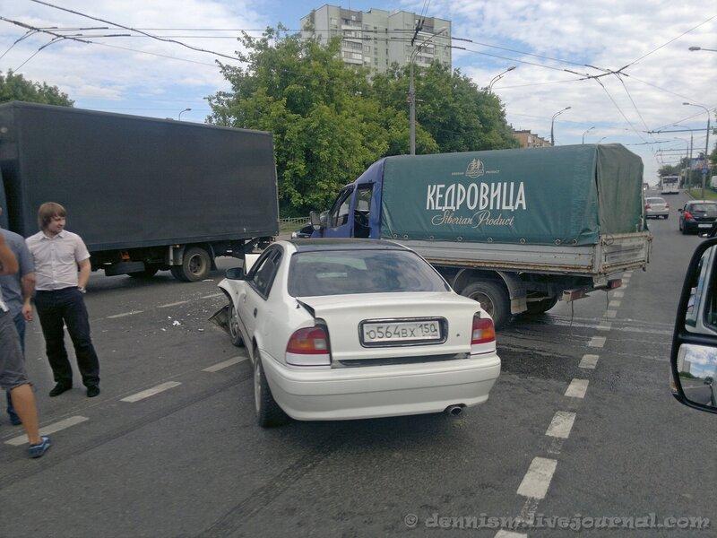 Авария на Коровинском шоссе.