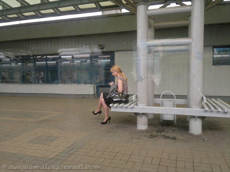 На станции Мытищи.