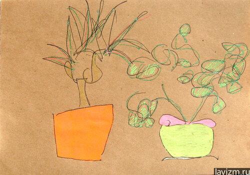 Рисунок Натюрморт Екатерина Лебедева художница