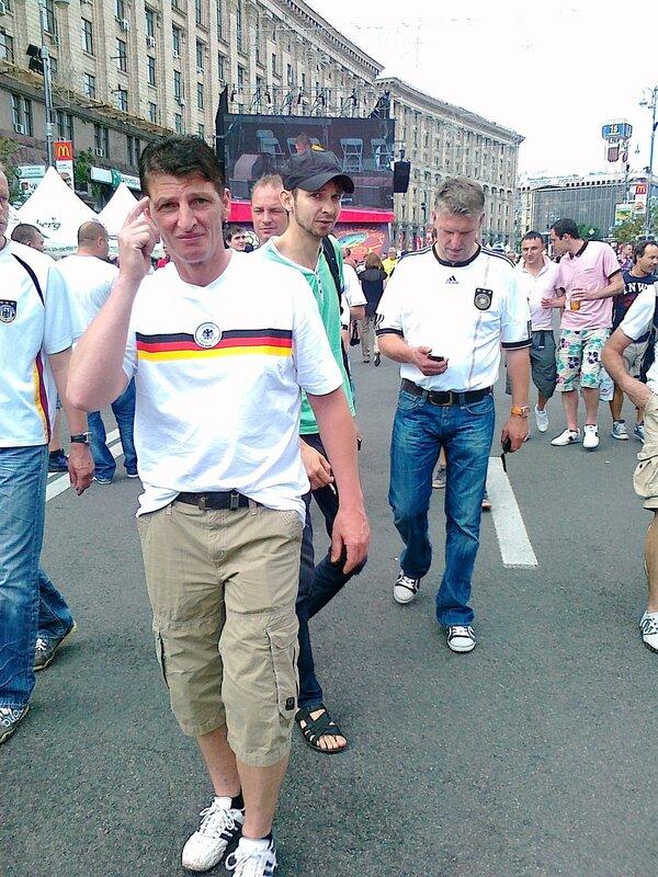 Английские болельщики в фан-зоне Киева