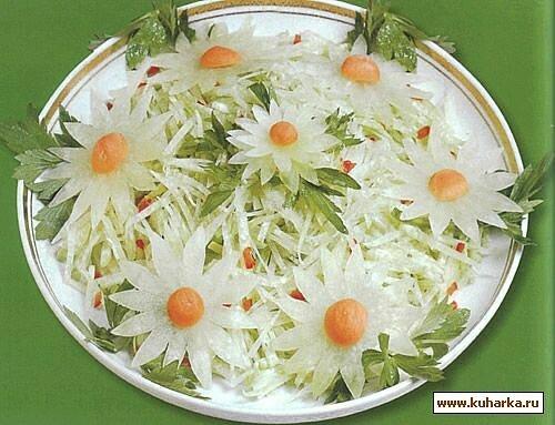 Украшение для салатов своими руками фото простые