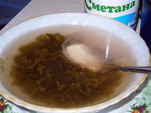 Супчик-компот щавелевый витаминный по Галицки
