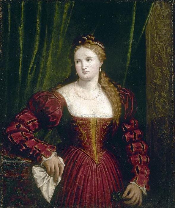 Paris Bordone, 1530s(?): Portrait Of A Woman Holding a Handkerchief