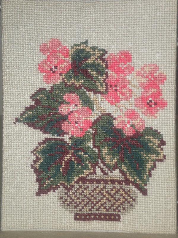 Цветок в горшке вышивка крестом схемы для начинающих, цветы.