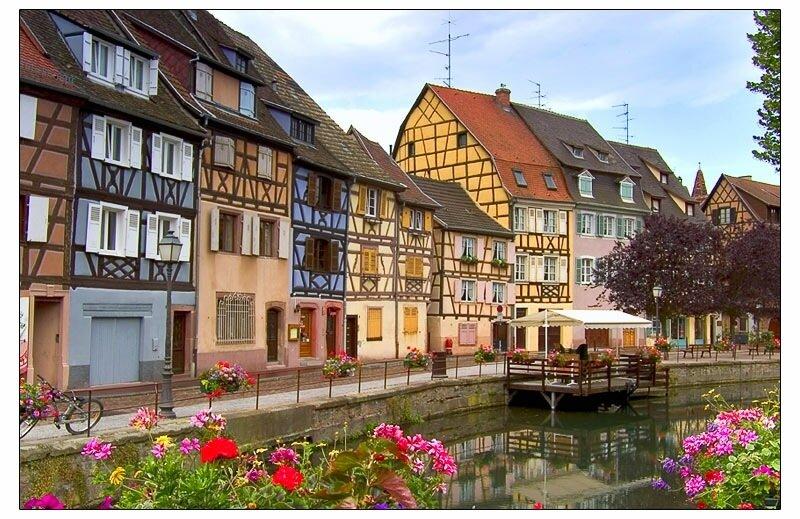 Кольмар (Эльзас, Франция) - живописный город, с прекрасно сохранившимися старыми кварталами.