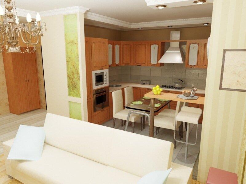 Виртуальный план кухни и гостинной
