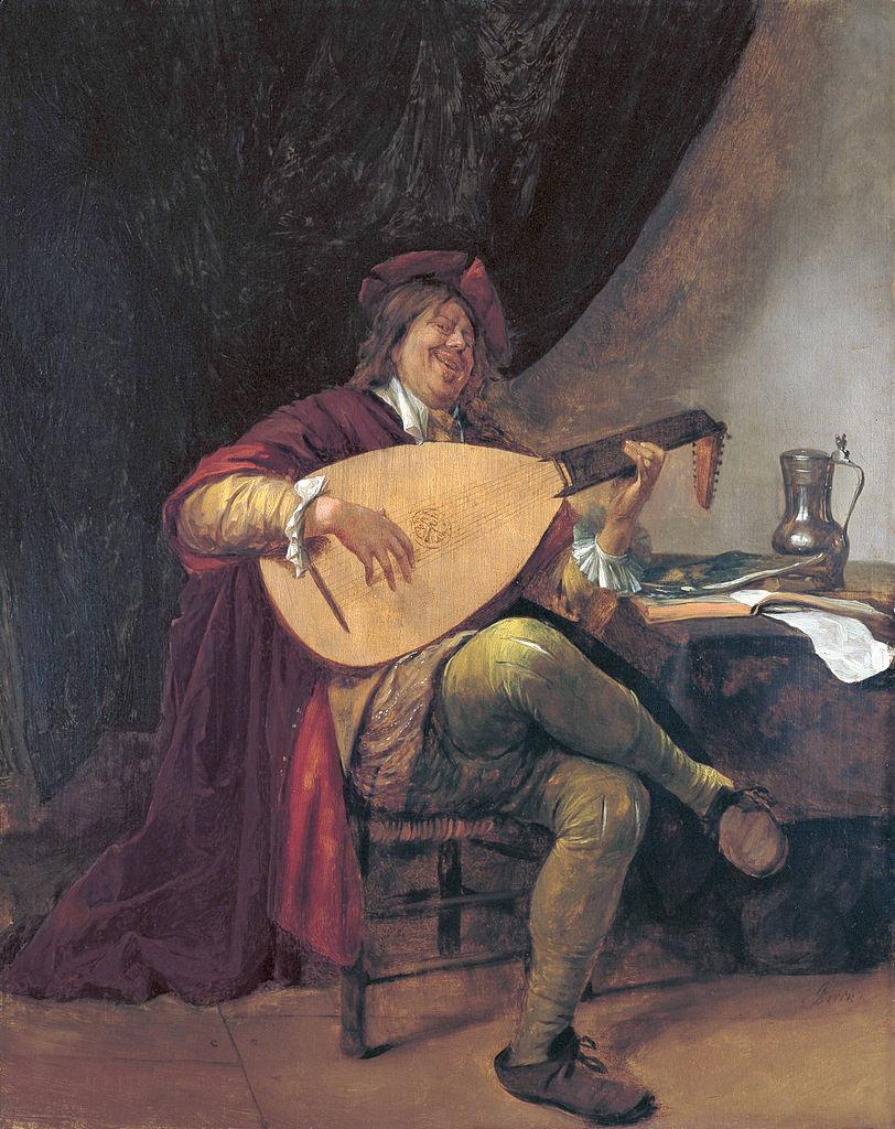 Автопортрет с лютней. Ян Стен(c.1626 –1679).j