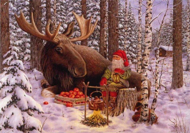 Открытка лет, новогодние скандинавские открытки
