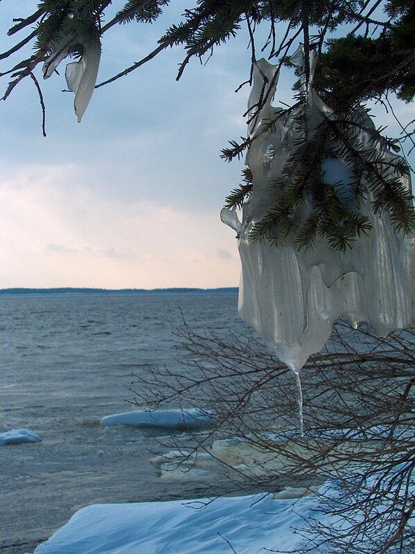 15 Декабря 2005 года. На реке Св. Лаврентия. Замёрзший шторм.