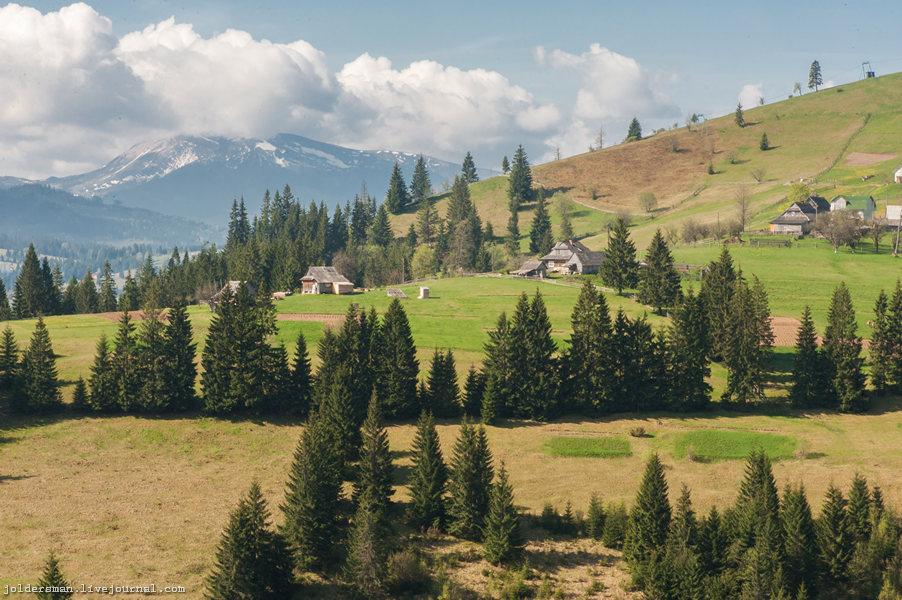 карпатские горные пейзажи