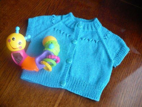 Mavi şirin bebek yeleği