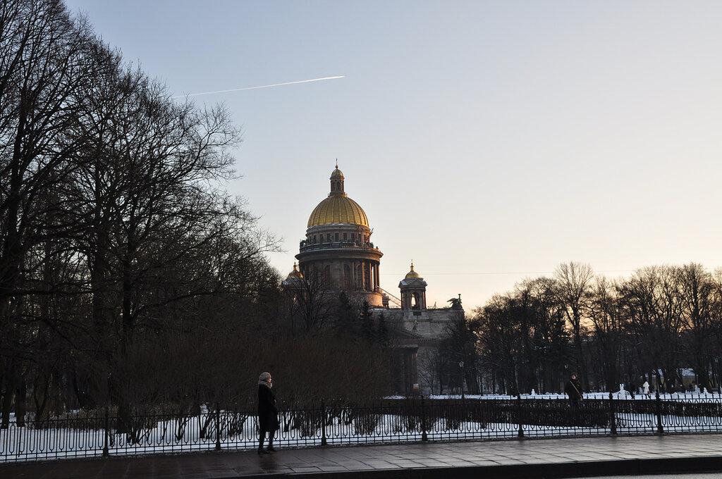 Первый снег в Санкт-Петербурге