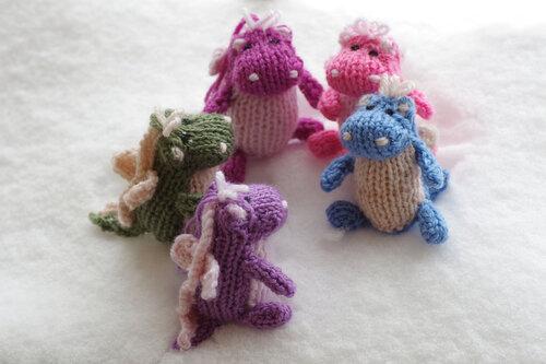 дракон мама и маленький дракончик вязаная игрушка вязание спицами