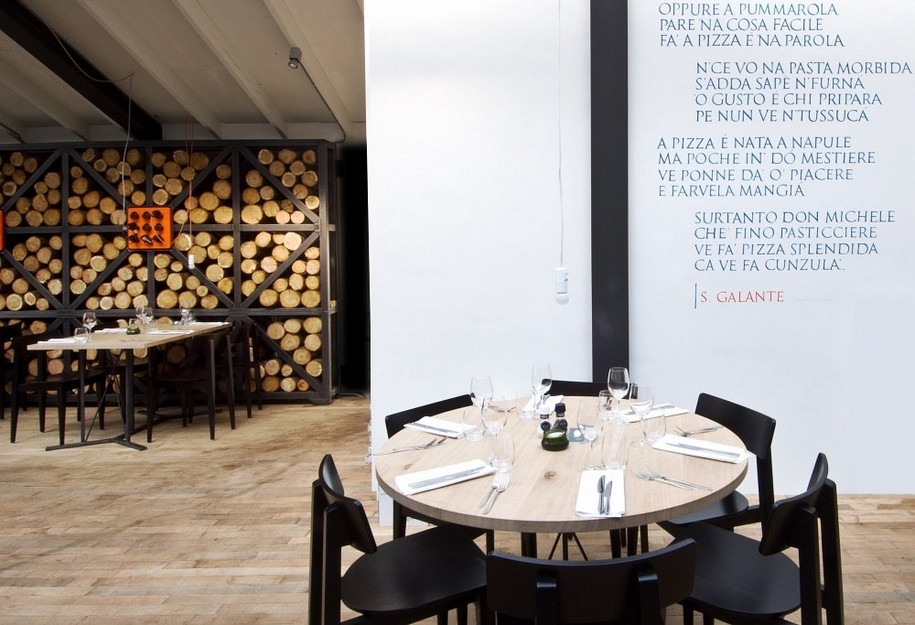 Интерьер ресторана Fabbrica от студии дизайна Tjep