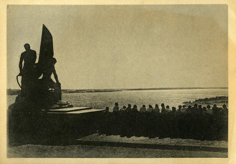 Канал Москва-Волга №11. Пестовская плотина ночью. Фото Н.Грановского. Изогиз, 1938, тир.10000 - 1.jpg