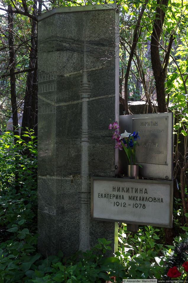 Могила Николая Васильевича Никитина на Новодевичьем кладбище