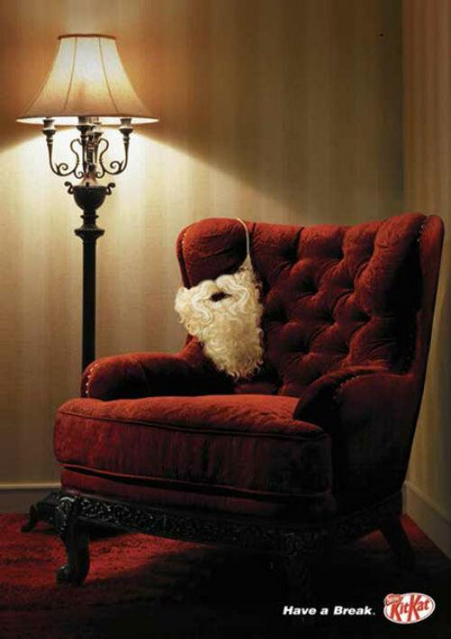 Коллекция самых крутых рождественских рекламных плакатов.