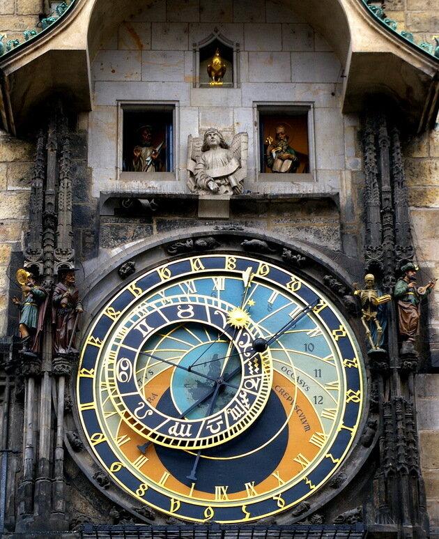 Староместская ратуша (астрономические часы Орлой). Прага, Чехия
