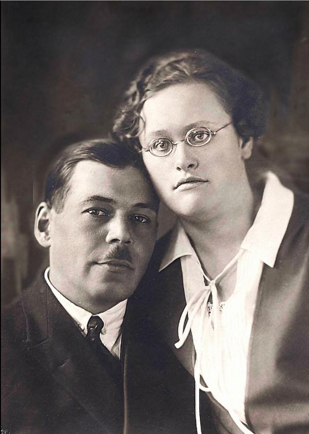 1936. Николай Сергеевич Семенов с женой