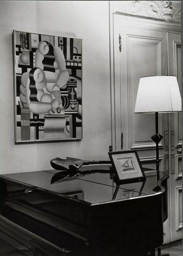 1960. В доме Канвейлера, на стене картина Фернана Леже