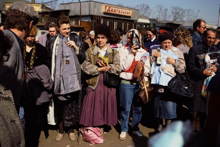 Soviet Citizens Selling Goods