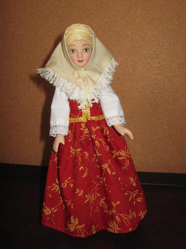 Куклы в народных костюмах №69 Кукла в летнем костюме Вятской губернии