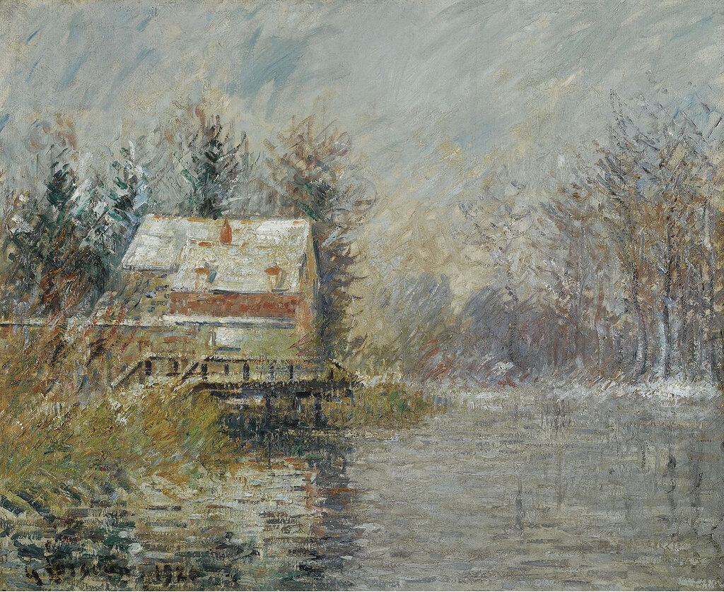 Gustave Loiseau - The House by the Water, Snow Effect, 1920.jpeg