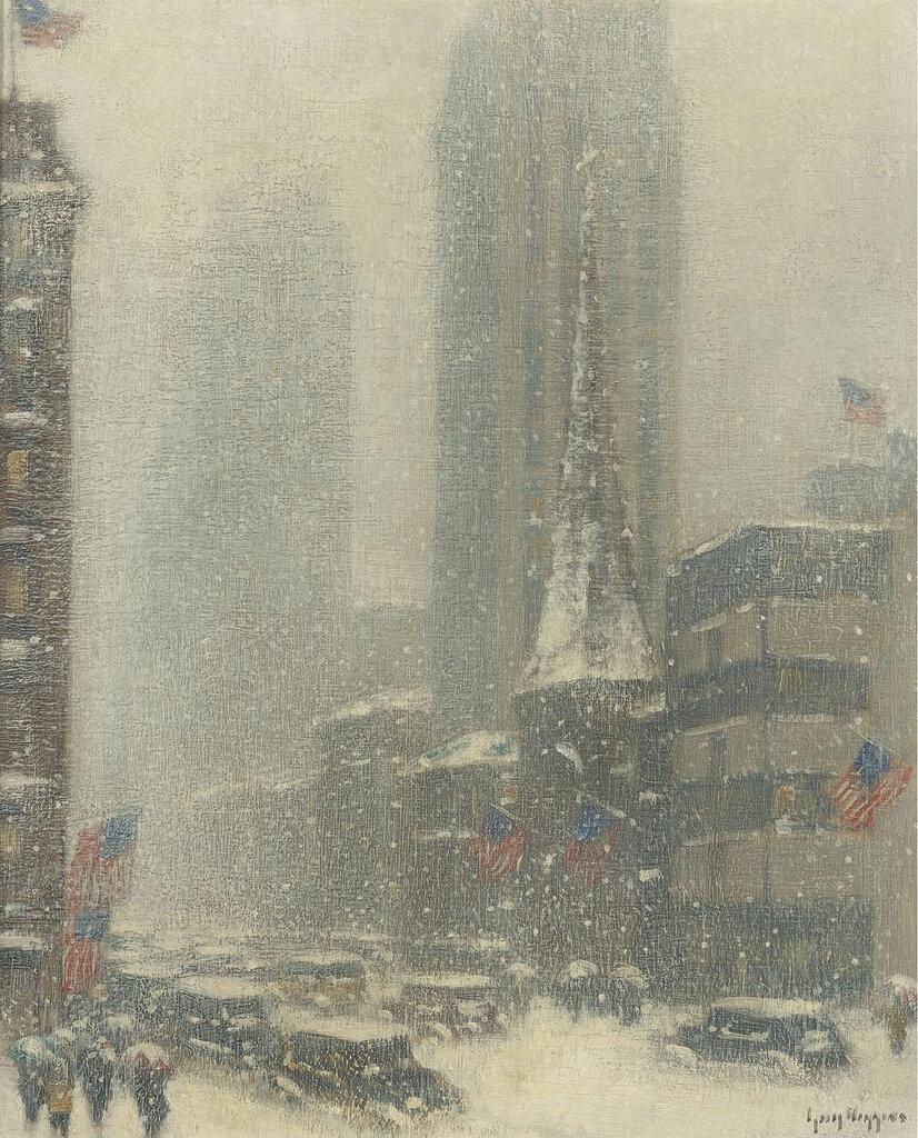 Guy Carleton Wiggins - Heavy Snow Storm on 5th Ave, 1937.jpeg