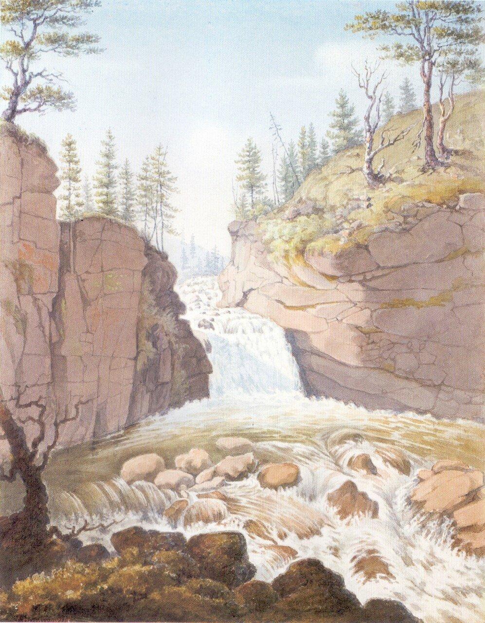 86.Водопад на реке Мельничная на высотах Яблонного хребта.jpg
