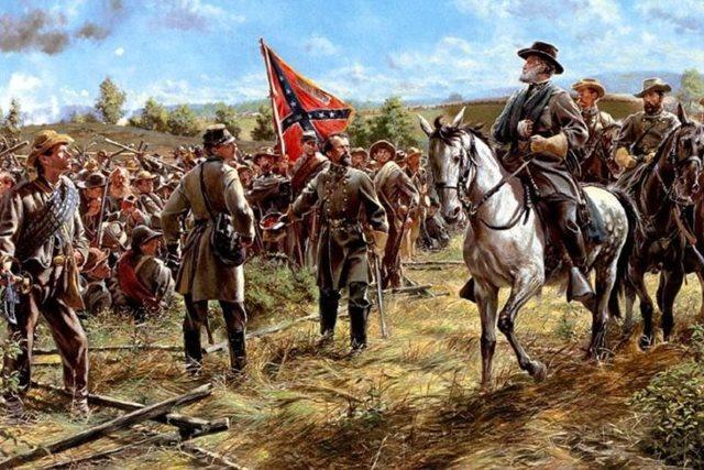 Гражданская война в США (фрагменты разных картин)