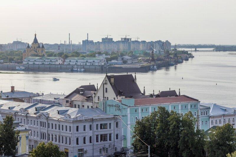 Вид на Стрелку Волги и Оки, Нижний Новгород