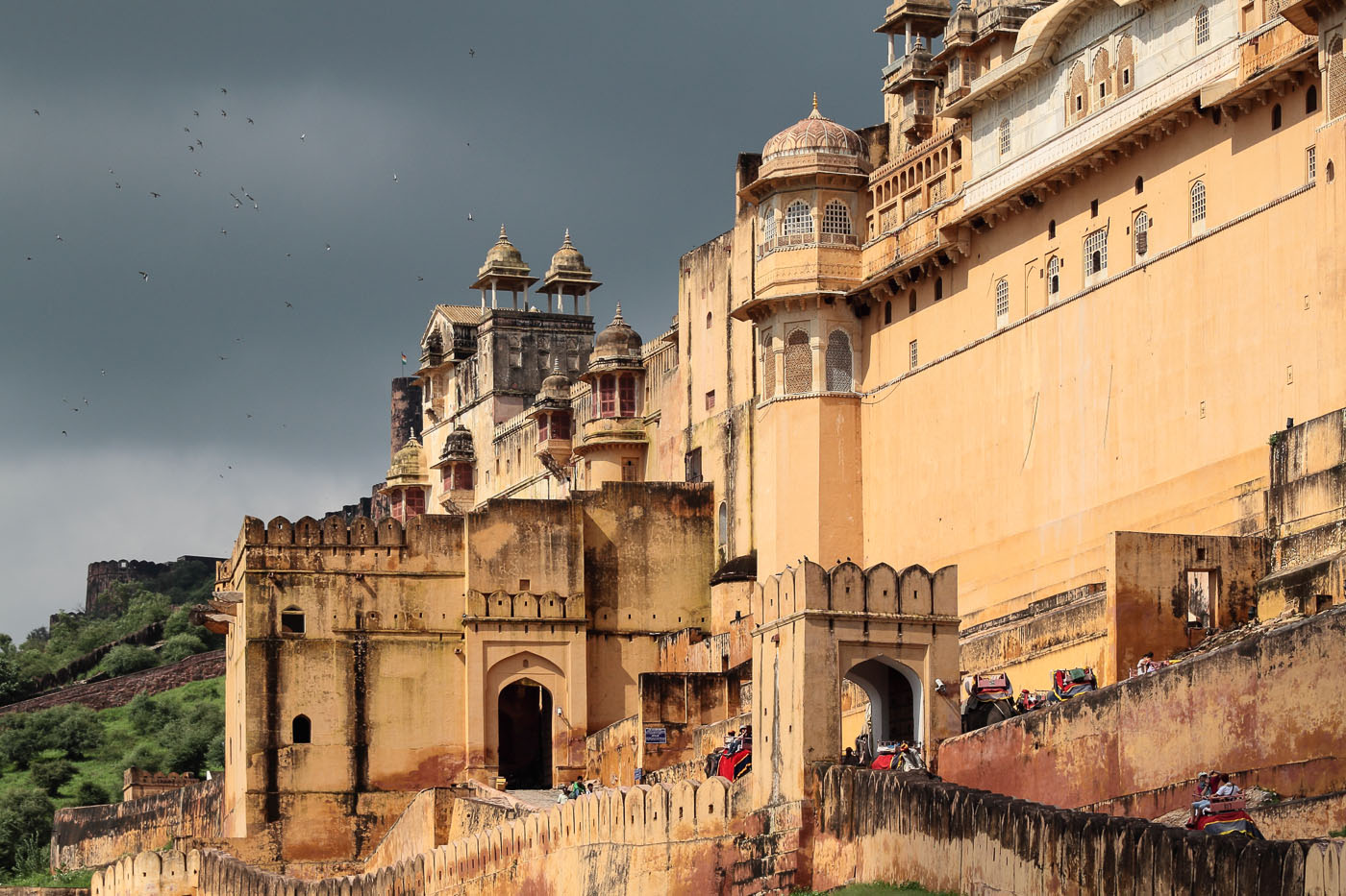 Фото 7. Зловещий Форт Амбер в Джайпуре. Рассказы о путешествиях в Индию.