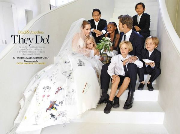Свадьба Анджелины Джоли и Брэда Питта
