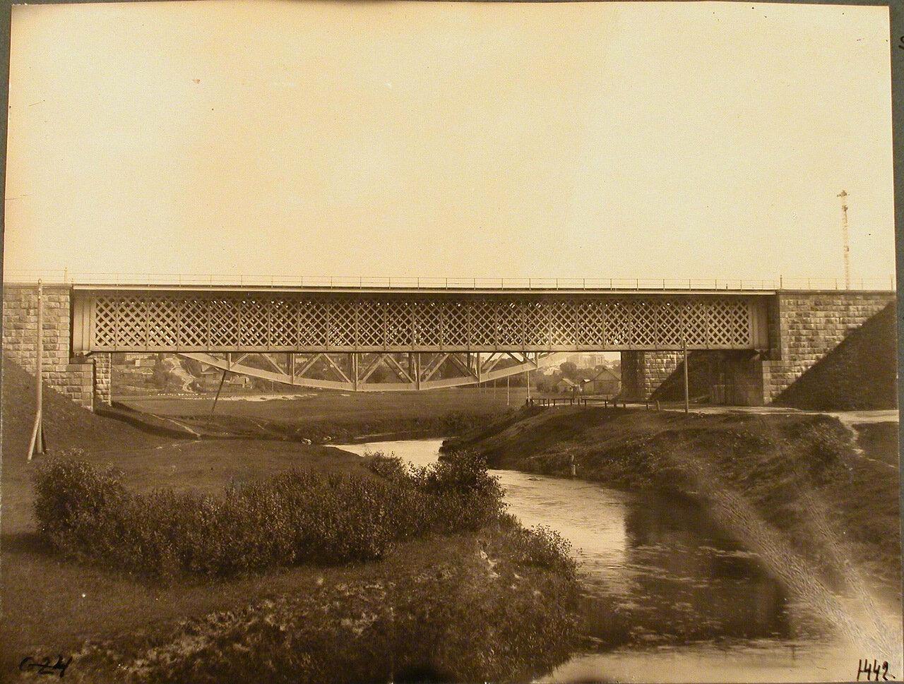Витебская губерния. Станция Режица. Вид железнодорожного моста на 416-й версте