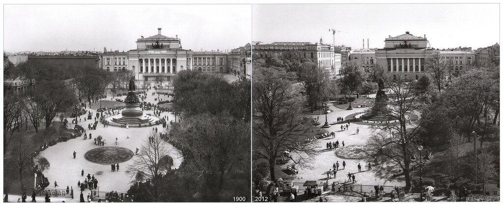 Александринская площадь - площадь Островского (1900-2012)