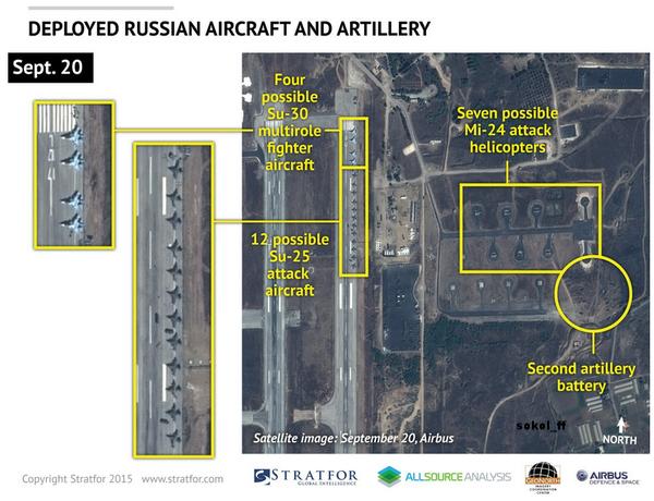 28 росийских боевых самолётов в Сирии