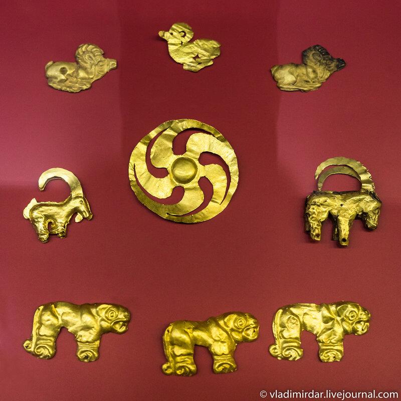 Золотые украшения Кызыл-Курагино