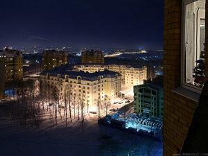 Афанасьева зимой город, Чебоксары, ночь, панорама, холод
