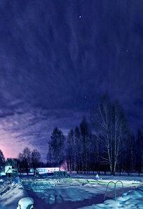 Искупнутся в снегу , HDR, ночь, панорама, город