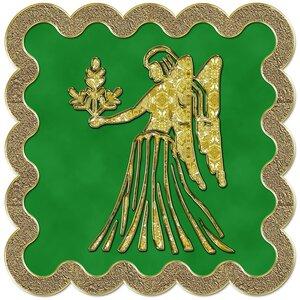 Дева - знак зодиака, рисунок, вариант № 3, печать, Апарышев.
