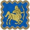 Стрелец - знак зодиака, рисунок, вариант № 3, печать, Апарышев.