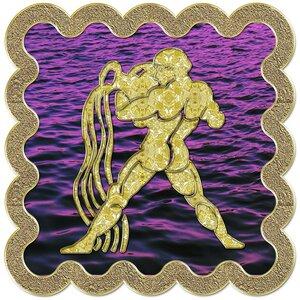 Водолей - знак зодиака, рисунок, вариант № 3, печать, Апарышев.