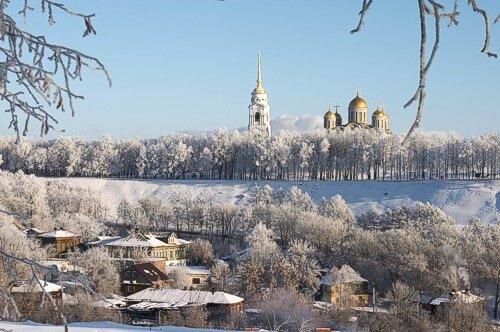 Владимир, Успенский собор, зима