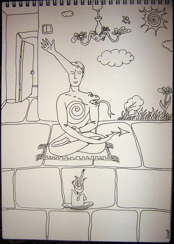 портрет медитатора
