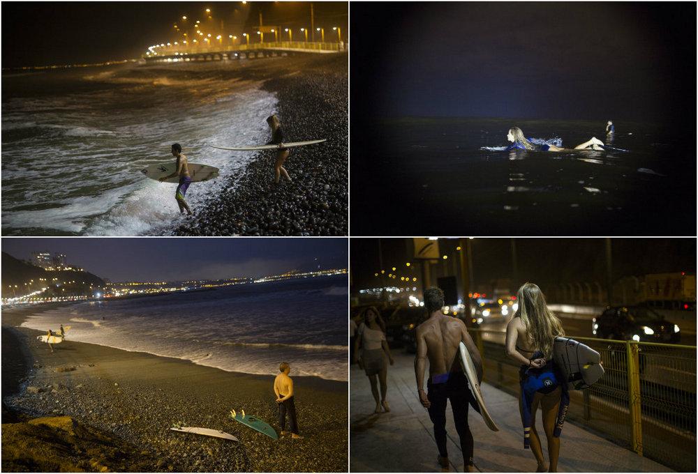 Ночной серфинг в Перу
