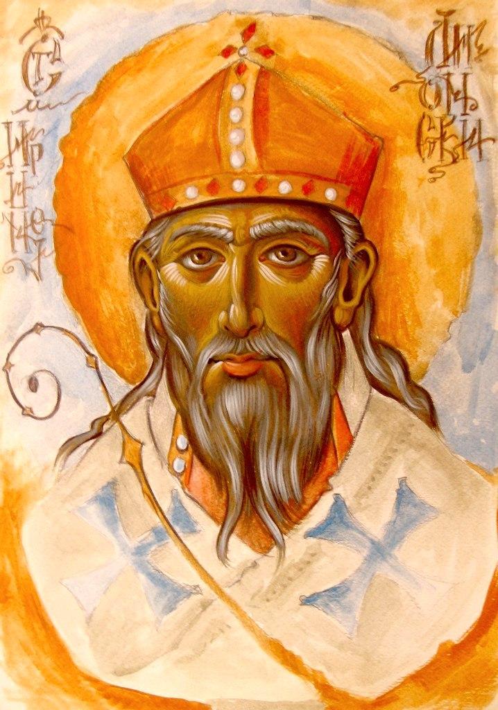 Священномученик Ириней, Епископ Лионский. Иконописец Деян Манделц (Сербия).
