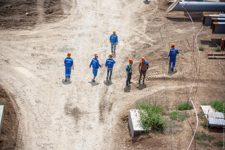 """Строительство аэропорта """"Южный"""" (""""Платов""""), июль 2016"""