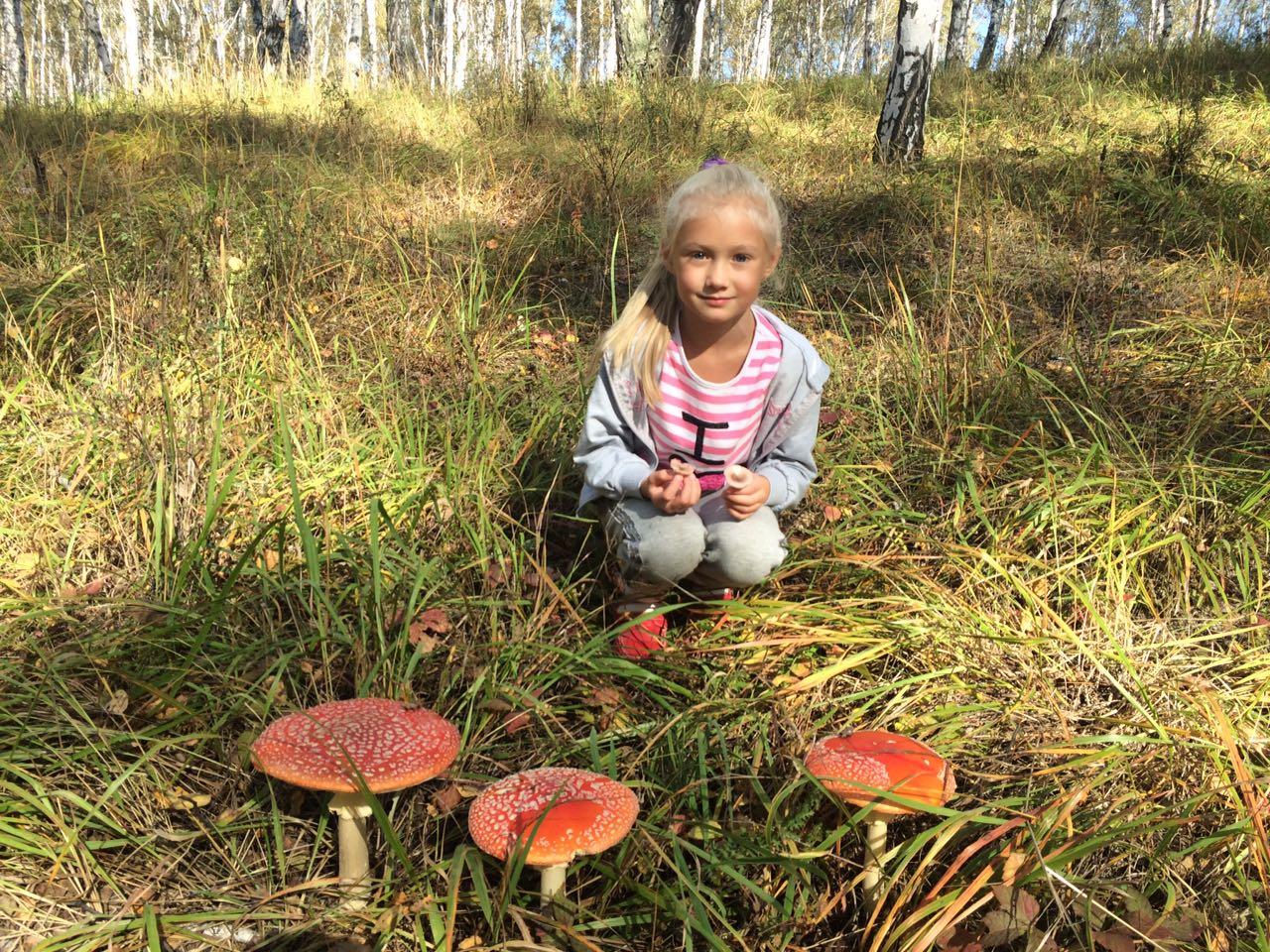 Самые красивые грибы находят дети! Лена и мухоморы (26.09.2016)